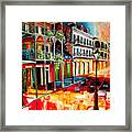 Late On Royal Street Framed Print