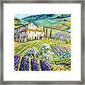 Lavender Hills Tuscany By Prankearts Fine Arts Framed Print