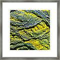 Layers In Blue And Yellow Framed Print