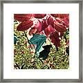Leaves And Berries - Inversed Framed Print