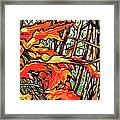 Leaves Long Framed Print by Nadi Spencer
