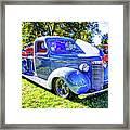 Light Blue Pickup  Framed Print