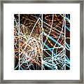 Lightpainting Quads Art Print Photograph 3 Framed Print