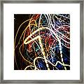 Lightpainting Single Wall Art Print Photograph 3 Framed Print