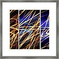 Lightpainting Triptych Wall Art Print Photograph 6 Framed Print