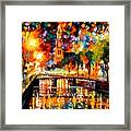 Lights And Shadows Of Amsterdam Framed Print