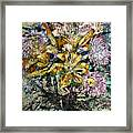 Lilies And Chrysanthemums.1999 Framed Print