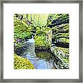 Limestone Waters Framed Print