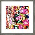 Lines And Bubbles Framed Print