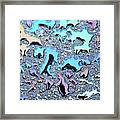 Liquid Color 1 Framed Print by Mark Fuller