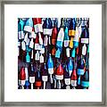 Lobester Trap Bouys Framed Print by Garry Gay
