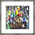 Lobster Buoys And Nets - Maine Framed Print