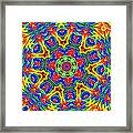 Lollipops Kaleidoscope 2 Framed Print