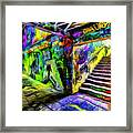 London Graffiti Van Gogh Framed Print