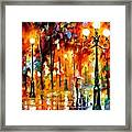 Lonely Night 3 - Palette Knife Oil Painting On Canvas By Leonid Afremov Framed Print