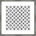 Louis Vuitton Pattern Lv 07 Grey Framed Print