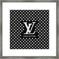 Louis Vuitton Pattern - Lv Pattern 11 - Fashion And Lifestyle Framed Print