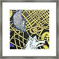 Love Between Valkyrie And Wolf Framed Print