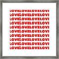 Love In Red Framed Print