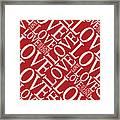 Love In Red Framed Print by Michael Tompsett