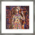 Lovers In The Moonlight Framed Print