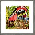 Lower Humbert Covered Bridge 2 Framed Print