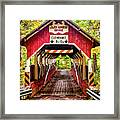 Lower Humbert Covered Bridge 5 Framed Print