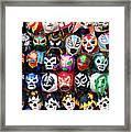 Lucha Libre Wrestling Masks Framed Print