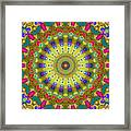 Lunch At The Eighteen Roses Sidewalk Cafe Framed Print by Myxtl Turnipseed