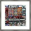 Lunch At The Harbor Framed Print