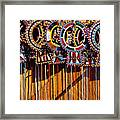 Maasai Wedding Necklaces Framed Print