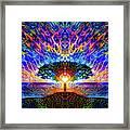 Magical Tree And Sun 2 Framed Print