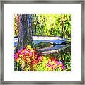 Magnolia Gardens Bridge Framed Print