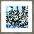 Majestic Winter In New England  Framed Print