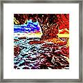 Malibu Sunset Framed Print