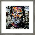 Man With Colourful Face Framed Print
