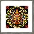 Mandala Azteca Framed Print