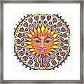 Peacock Sunburst Framed Print