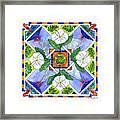 Mandala IIi - White Hibiscus Framed Print