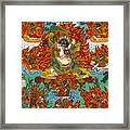 Maning Mahakala With Retinue Framed Print