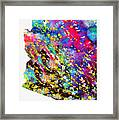 Map Of Arizona-colorful Framed Print