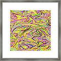 Marbled Pattern Framed Print