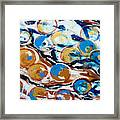 Marbles Of Life Framed Print