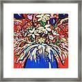 Mardi Gras Floral Explosion Framed Print