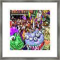 Mardi Gras Mob Framed Print