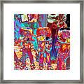 Mariachi Abstract Framed Print