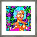 Marilyn Monroe Light And Butterflies Framed Print