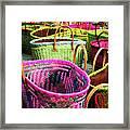 Market Baskets - Libourne Framed Print
