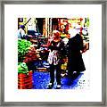 Market Scenes Of Beirut Framed Print