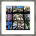 Mary In The Middle Framed Print